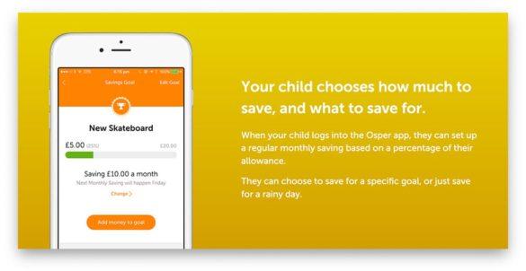 Osper savings mobile app