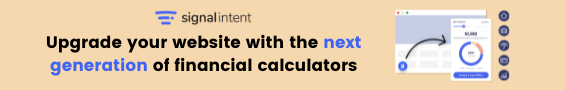 Signal Intent upgrade to the next generation of financial calculators