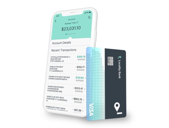 Locality Bank phone app and card