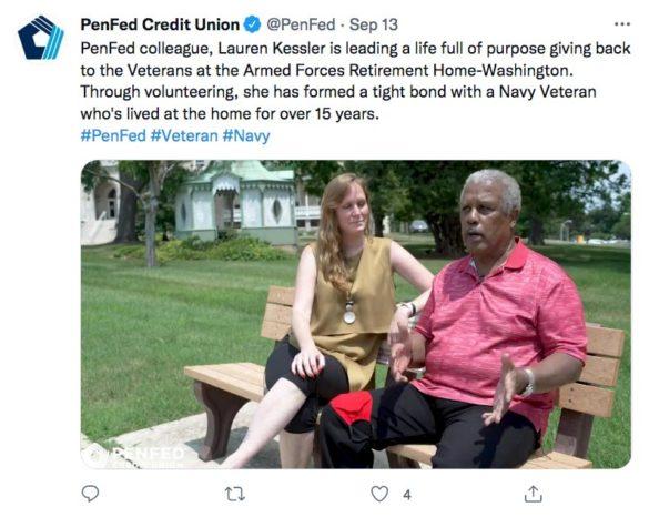 PenFed twitter veteran home