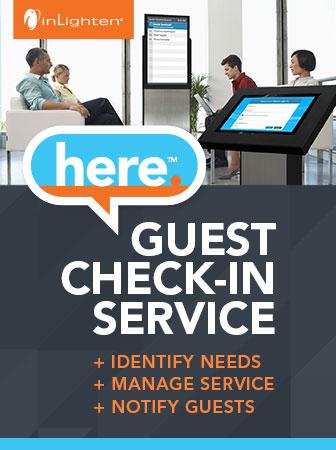 inLighten | here. Guest Check-In Service